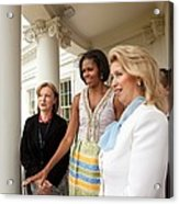 Michelle Obama Hosts First Lady Acrylic Print by Everett