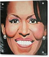 Michelle Obama Acrylic Print by Timothe Winstead