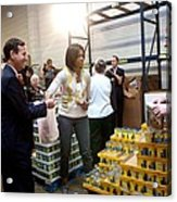 Michelle Obama Volunteers For Feeding Acrylic Print by Everett