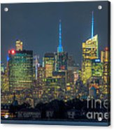 Mid-town Manhattan Twilight I Acrylic Print by Clarence Holmes
