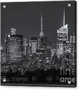 Mid-town Manhattan Twilight II Acrylic Print by Clarence Holmes