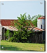 Middle Barn Acrylic Print by Lisa Moore