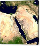 Middle East Acrylic Print by Nasa