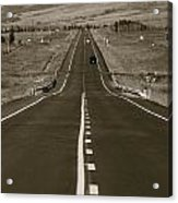 Middle Of The Road Acrylic Print by David  Hubbs