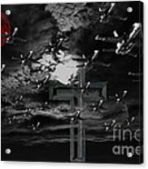 Midnight Raid Under The Red Moonlight Acrylic Print by Wingsdomain Art and Photography