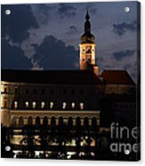 Mikulov Castle At Night Acrylic Print by Michal Boubin