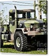 Military Truck Acrylic Print by Blink Images
