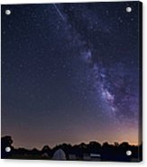 Milky Way And Perseid Meteor Shower Acrylic Print by John Davis
