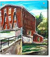 Millbury Mill Acrylic Print by Scott Nelson