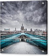 Millenium Bridge London Acrylic Print by Martin Williams