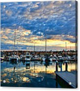 Mindarie Sunrise Acrylic Print by Imagevixen Photography