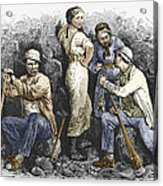 Miners And Their Wives, 19th Century Acrylic Print by Sheila Terry