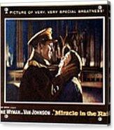 Miracle In The Rain, Van Johnson, Jane Acrylic Print by Everett