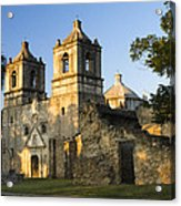 Mission Concepcion In The Evening Acrylic Print by Ellie Teramoto