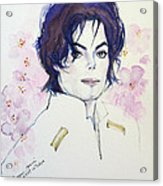 Mj In Sakura Acrylic Print by Hitomi Osanai