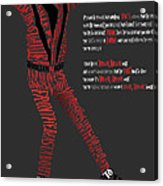 Mj_typography Acrylic Print by Mike  Haslam