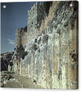 Moat Of Saladins Castle, A Byzantine Acrylic Print by Everett