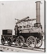 Model Of George Stephensons Successful Acrylic Print by Everett