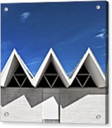 Modern Building Roofing Acrylic Print by Eddy Joaquim
