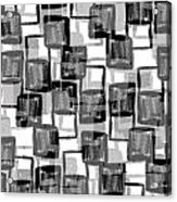 Monochrome Squares Acrylic Print by Louisa Knight