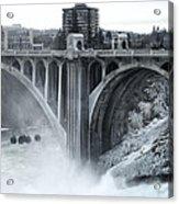 Monroe St Bridge 2 - Spokane Washington Acrylic Print by Daniel Hagerman