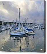 Monterey Harbor Marina - California Acrylic Print by Brendan Reals