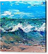 Moody Beach In A Mood Acrylic Print by Scott Nelson