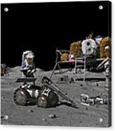 Moon Exploration, Artwork Acrylic Print by Walter Myers