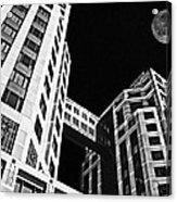 Moon Over Twin Towers 2 Acrylic Print by Samuel Sheats