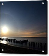 Moonrise At The Beach Acrylic Print by Cale Best