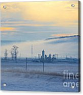 Morning Landscape In Winter Acrylic Print by Gabriela Insuratelu