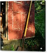 Morning Light On The Door Of An Old Acrylic Print by Stephen St. John