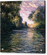 Morning On The Seine Acrylic Print by Claude Monet