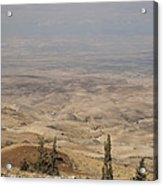 Moses First Saw The The Holy Land Acrylic Print by Taylor S. Kennedy