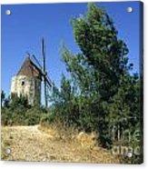Moulin Of Daudet. Fontvieille. Provence Acrylic Print by Bernard Jaubert