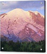 Mount Rainier At Sunrise Mount Rainier Acrylic Print by Tim Fitzharris