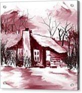 Mountain Cabin Acrylic Print by David Lane