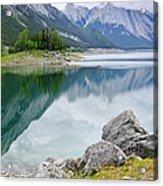 Mountain Lake In Jasper National Park Acrylic Print by Elena Elisseeva