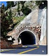Mountain Tunnel. Acrylic Print by Fernando Barozza