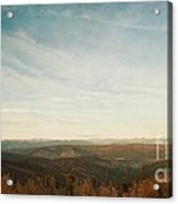 Mountains As Far As The Eye Can See Acrylic Print by Priska Wettstein