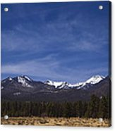 Mountains In The Desert Acrylic Print by Andrew Soundarajan
