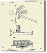 Mouth Organ 1876 Patent Art Acrylic Print by Prior Art Design