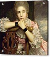 Mrs Abington As Miss Prue In Congreve's 'love For Love'  Acrylic Print by Sir Joshua Reynolds
