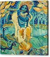 My Krishna Is Blue Acrylic Print by Ashleigh Dyan Bayer