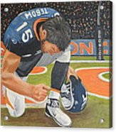 My Man Tebow Acrylic Print by Lynette Brown