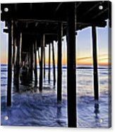 Nags Head Pier - A Different View Acrylic Print by Rob Travis