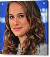 Natalie Portman At The Press Conference Acrylic Print by Everett
