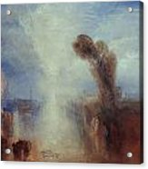 Neapolitan Fisher-girls Surprised Bathing By Moonlight Acrylic Print by Joseph Mallord William Turner