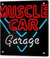 Neon Muscle Acrylic Print by Steven Milner