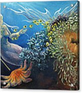 Neptune's Daughter Acrylic Print by Ann Beeching